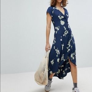 NWT FREE PEOPLE Lost In You Floral Midi Dress L